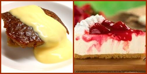 Étterem Dél-Afrikában - Carnivore desserts: malva pudding and cheese cake