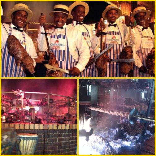 Étterem Dél-Afrikában - Carnivore, hús kardok, vadhúsok