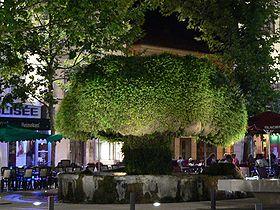 Utazás lakóautóval Provence - Salon de Provence, La Fontaine Moussue de nuit
