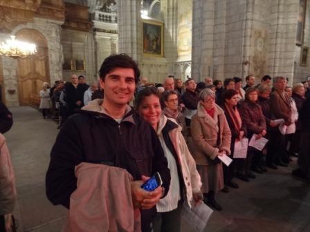 Utazás lakóautóval Béziers katedrális, olajszentelésen