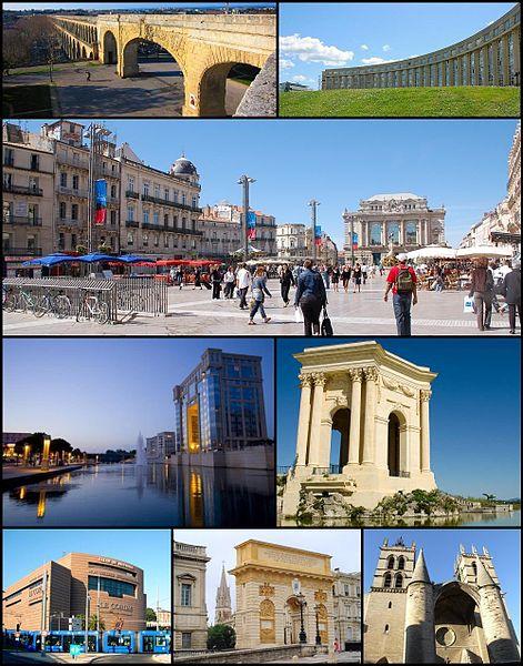 Utazás lakóautóval Montpellier - fotó montázs