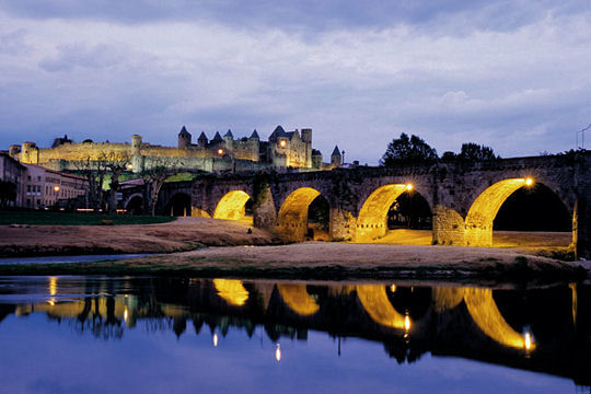 Utazás lakóautóval Carcassonne - Pont Vieux
