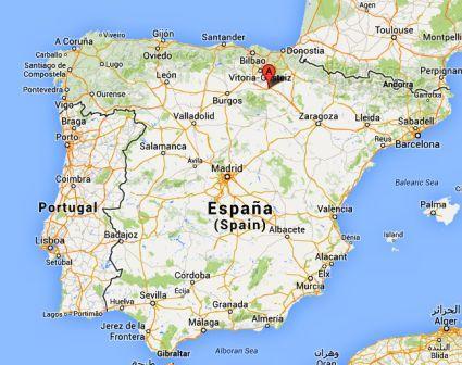 El Camino - Szent Jakab út, Logroño a térképen