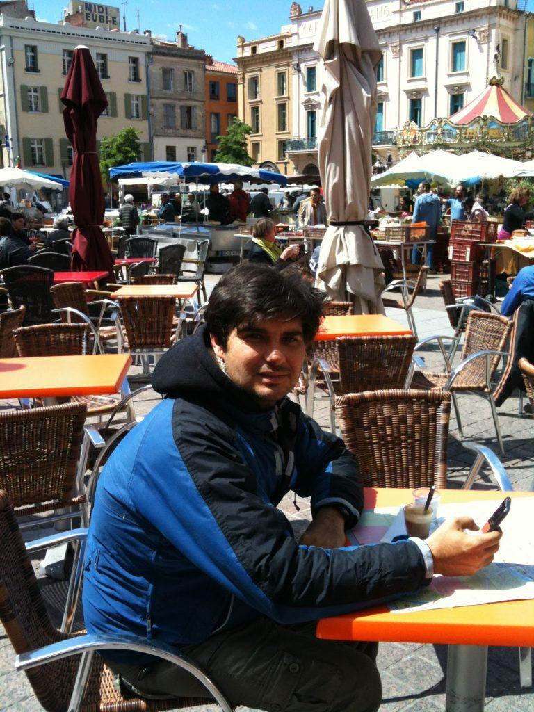 Úton Spanyolország felé - Perpignan kávézás