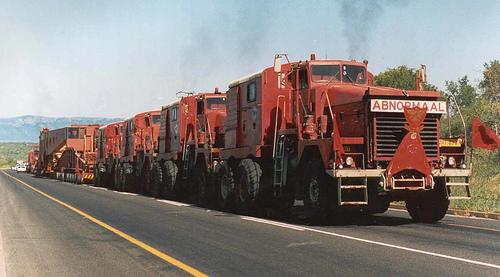 Járművek, közlekedés Dél-Afrikában - kamion-vonat